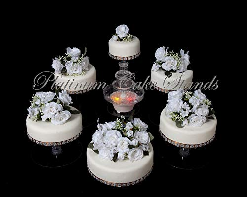 6 Tier Clear Wedding Cascade Cupcake Cake Stand (STYLE R600)