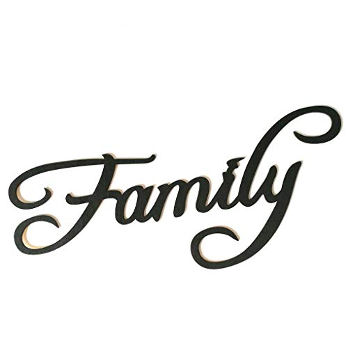 Family Memories Blessings Letter Wooden Wall Sticker Wood Hanging Sign Word DIY Home Bar Decoration Ornament