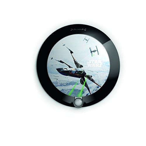 Philips Disney Frozen Kinder Sensor Nachtlicht (1 x 0,06W LED integriert) Star Wars - Episode VIII Schwarz