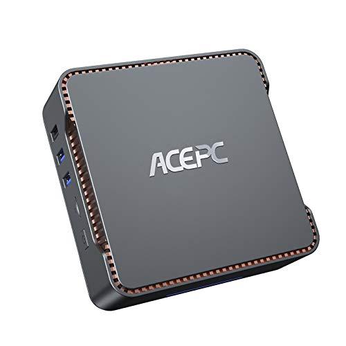 ACEPC AK3 ミニpc 4GB DDR3 64GB eMMC Windows 10 Pro 小型 パソコン インテル Celeron N3350 プロセッサー (最大2.4GHz) コンピューター、3画面同時出力可能 最大4K解像度 Bluetooth 4.2、2.4G / 5.0G WiFi対応 (4GB DDR3 64 eMMC)
