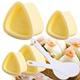 Set of 4 Pieces Onigiri Mold, Triangle Sushi Mold Rice Ball Mold Japanese DIY Kitchen Bento Accessories Making Tool