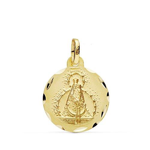 Medalla Oro 18K Virgen Cabeza 16mm. [Ab0779Gr] - Personalizable - Grabación Incluida En El Precio