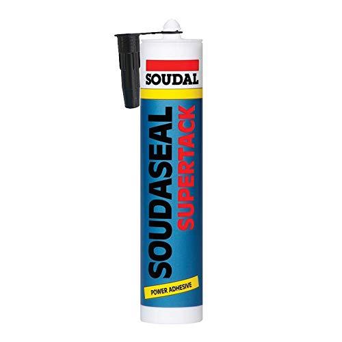 Soudal Supertrack Black - Sustrato de sodio (290 ml), color negro