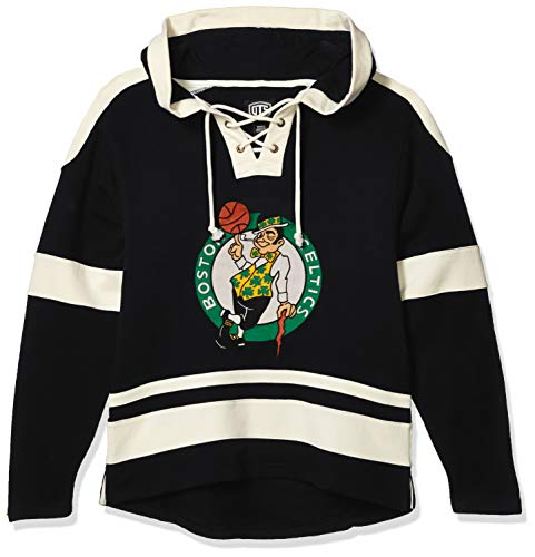 OTS NBA Boston Celtics Men's Grant Lace Up Pullover Hoodie, Logo, Medium