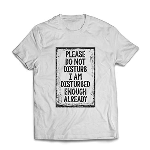 lepni.me Mannen T-shirt Please Do Not Disturb Social Distancing Quarantine Tee