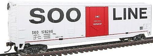 compra en línea hoy Walthers Trainline 50' Plug-Door Boxcar with Metal Metal Metal Wheels Ready to Run Soo Line by Walthers Trainline  el mas de moda