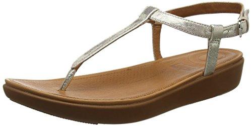 Fitflop Damen Tia Toe-Thong' Peeptoe Sandalen, Silver (Silver 011), 38 EU