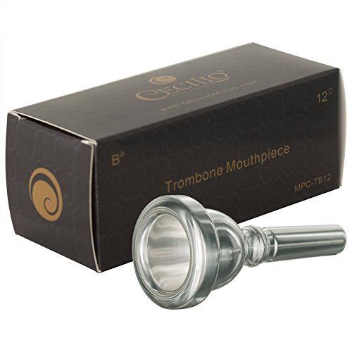 Cecilio Trombone Mouthpiece,12C, Silver Plated
