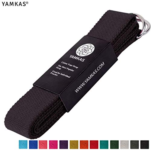 Yamkas Yoga Strap for Stretching | Durable Cotton Stretch Belt |...