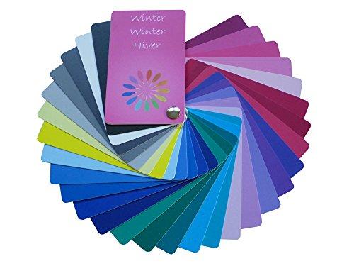 Farbpass Winter (cold Winter) als Fächer mit 30 typgechten Farben zur Farbanalyse, Farbberatung
