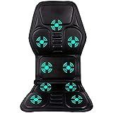 Comfier Massage Seat Cushion with Heat,10 Vibration Motors, 3 Heating Pad, car Back
