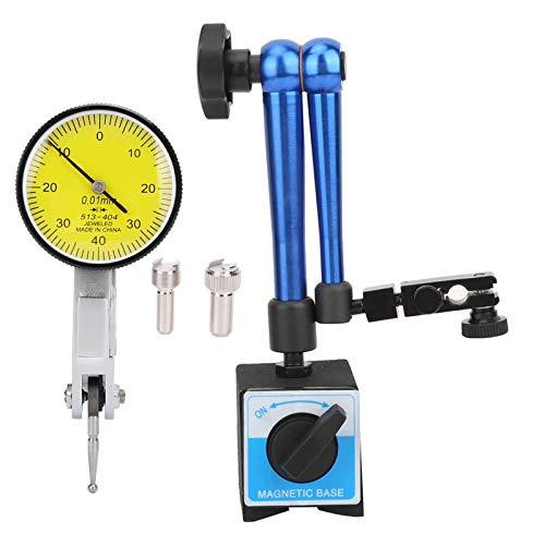 Soporte de base de dial, 60x50x55mm Soporte de base magnético Soporte de pantalla de dial de precisión precisa y flexible azul con pantalla de prueba de dial
