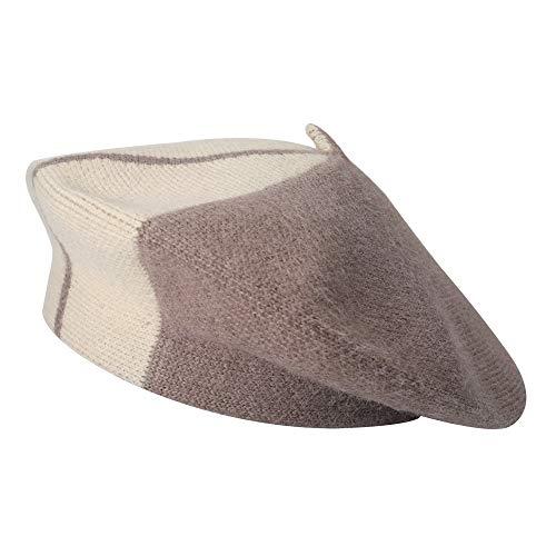ZLYC damski zimowy berety kapelusz francuski kaszmir ciepły artysta klasyczny nadruk kapelusz