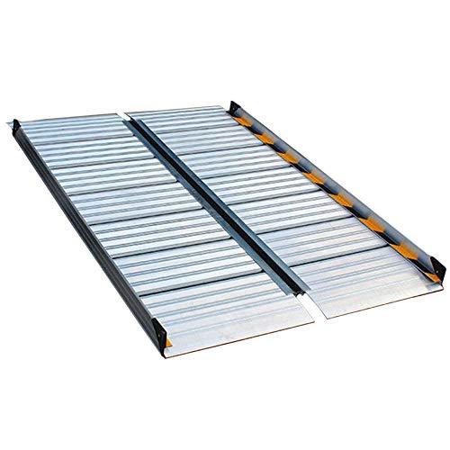 LLA Rampas Rampa Plegable De Aluminio para Silla De Ruedas con Pegatinas Antideslizantes, para Puertas De Escaleras De Casa Pasos De Patio Trasero, Acceso Portátil Sin Barreras (Size : 56×75×5