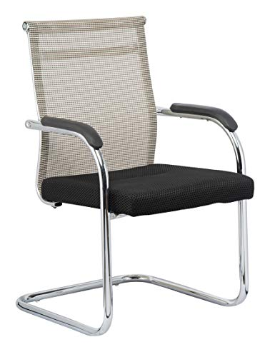 MBTC Tizan Office Executive Visitor Chair in Cream & Black