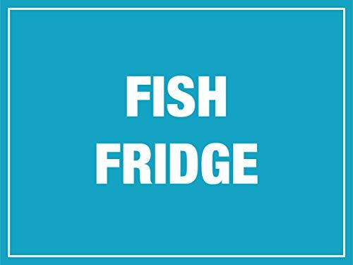 THS Vinilo adhesivo para nevera con diseño de peces y avisos de temperatura