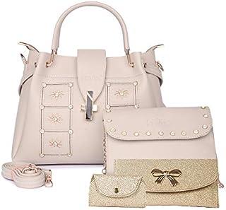 Nevis Set Of 3 Women Stchel/Crossbody bag (Pack of 4)