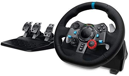 WUAZ Volante de Carreras, Volante de Juego, Volante y Pedales de conducción de Fuerza de conducción (PS4 / PS3 y PC)