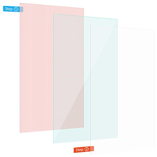 Nauci 2X Display Schutzfolie für 7-9 Zoll Tablet Panzerfolie Universal Display Folie