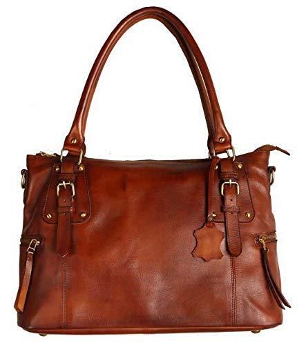 Superior Leather - Women Genuine Leather Handbag Shoulder Bag Full Grain...