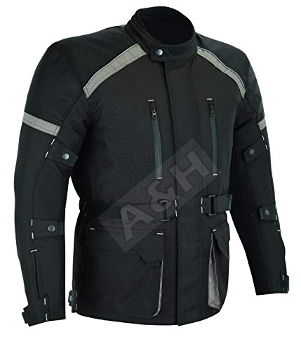 A&H Apparel All Season Mens Motorcycle Touring Jacket with CE Approved Armor Mens (X-Large)