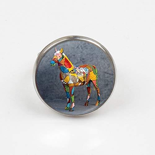 2019 - Gargantilla de cristal con alas de ángel de bronce para mujer y niño, diseño de caballo