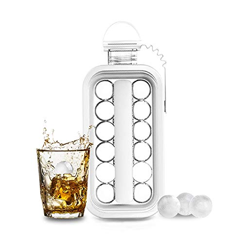 Ice Cube MoldsIce Cube Trays 2 in 1 Portable Ice Ball Maker KettleEasy to Make 17 Grids Flat Body Ice Ball for HomePartyBeerWhiskeyJuiceChampagne