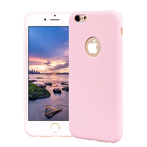Funda iPhone 6, Carcasa iPhone 6S Silicona Gel, OUJD Mate Case Ultra Delgado TPU Goma Flexible Cover para iPhone 6/6S - Rosa