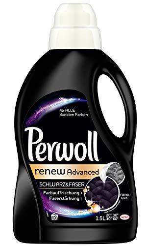 Perwoll renew Advanced Schwarz & Faser Spezialwaschmittel (für dunkle Textilien) 4er Pack (4 x 20 Waschladungen)