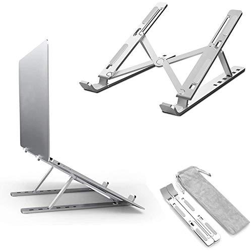 DSYYF Soporte para computadora portátil, Soporte para computadora portátil Ajustable de aleación de Aluminio Plegable portátil, Compatible con MacBook Air Pro, Huawei, Samsung