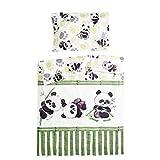 Bambou panda - Pati'Chou 100% Coton Parure Linge de lit pour bébé (Taie d'oreiller...