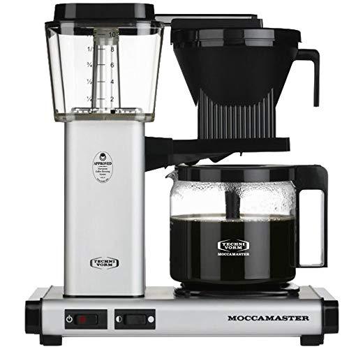 Technivorm Moccamaster 53956 KBG, 10-Cup Coffee Maker, 40 oz, Matte Silver