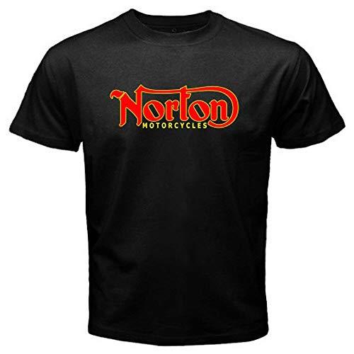Aolent nieuwe Norton motorfiets klassieke Logo Retro mannen wit zwart T-shirt maat S naar 3XL