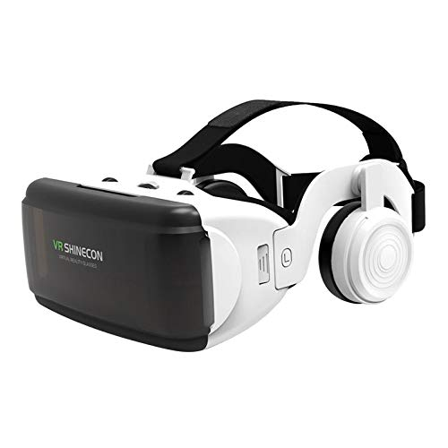 Prettyia Óculos de realidade virtual VR SHINECON com óculos de realidade virtual 3D, capacetes de fone de ouvido com tela grande de 4,7 a 6,6 polegadas