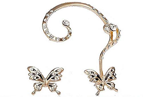 Oorbellen - cover - meisje - lichtpunten - gouden kleur - details - vrouw - oor - vlinders - cadeau-idee - verjaardag - kerstmis strass