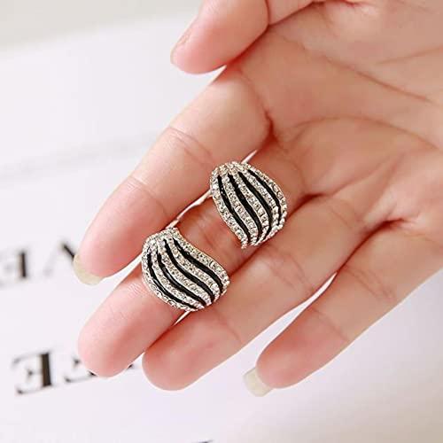 Orecchini A Clip con Forma Geometrica di Cristallo di Perle di Strass Non Piercing per Le Donne Orecchini di Lusso Senza Foro da Sposa novità!