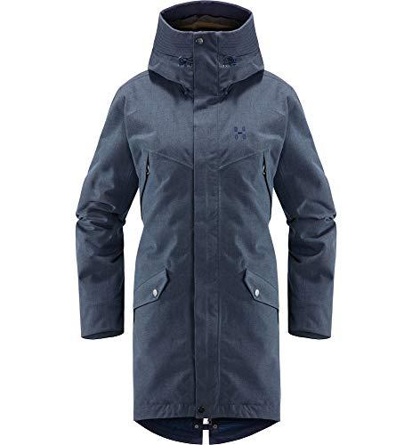Haglöfs Winterjacke Frauen Parka Siljan Wasserdicht, Winddicht, Atmungsaktiv Tarn Blue Melange S S - Empty for carryovers -