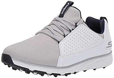 Skechers Men's Mojo Waterproof Golf Shoe, White/Gray, 13 W US