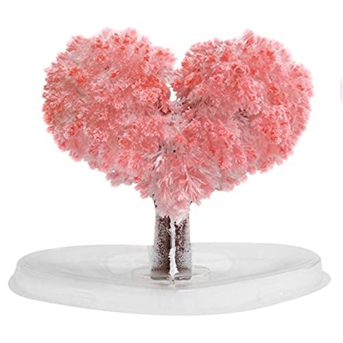 Árbol De Crecimiento De Papel De Sakura Crystal Trees De Escritorio Flor De Cerezo Juguetes De Diy Rosa De Escritorio De Cereza De Amor De Los árboles
