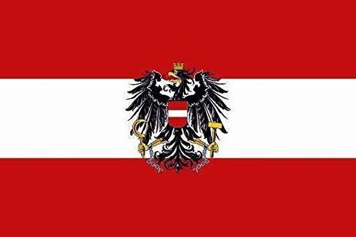 U24 Aufkleber Österreich mit Adler Flagge Fahne 8 x 5 cm Autoaufkleber Sticker