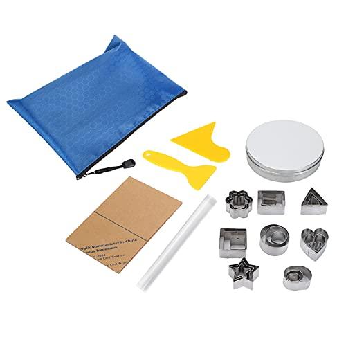 XINL Kit de Herramientas para raspador de cerámica, Herramienta de Modelado de Arcilla polimérica de plástico de Corte Hueco, Troquel de Corte de Acero Inoxidable para Arcilla, artesanía,