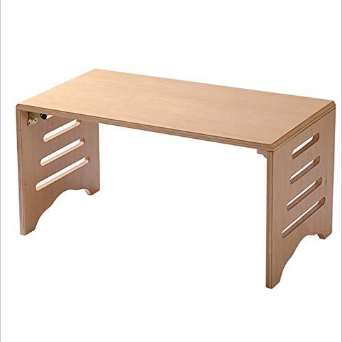 Eenvoudige opklapbare tafel HJCA opklaptafel - massief hout holle opklapbed computer tafel eenvoudige eettafel salontafel kleine tafel eenvoudige mode Tatami tafel opklapbare bed tafel - eiken buiten camping