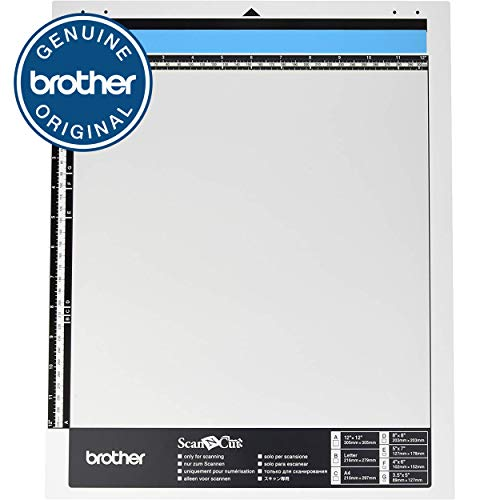 """Brother ScanNCut Mat CAMATS12, 12"""" x 12"""" Scanning Mat, Non-Tack to Convert Materials into Custom Designs ( Packaging May Vary )"""