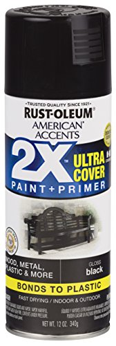 Rust-Oleum 327870-6 PK American Accents Spray Paint, 6 Pack, Gloss Black