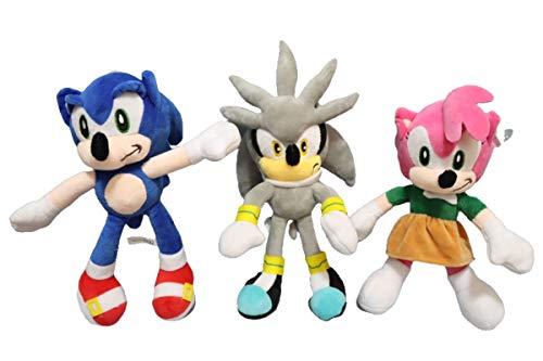 FENGHE Muñeco de Peluche Sonic 3 unids/Lote Sonic muñeco...