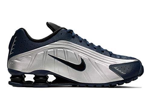 Nike Herrenschuhe Sneakers Shox R4 aus blauem und grauem Leder 104265-405