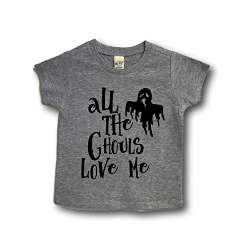 All the ghouls love me halloween toddler boy or girl shirt