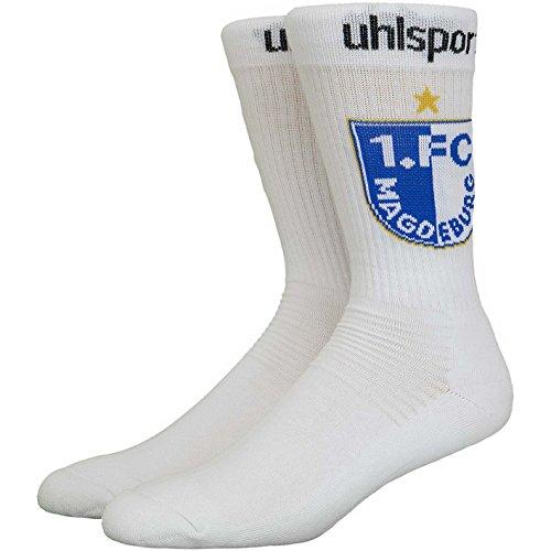 1. FC Magdeburg Uhlsport Socken Socks (41-45, weiß)