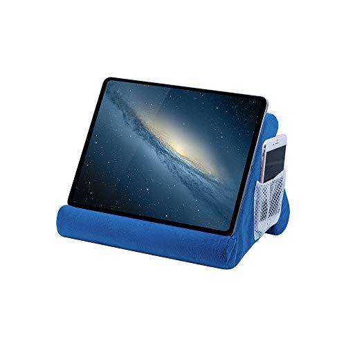 Mcbazel Cuscino per Tablet, Supporto per Cuscino per Telefono Morbido Multi-angolo Supporto per Tablet   iPad   Lettore Elettronico - blu