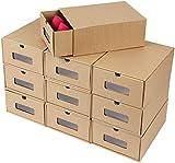 femor Schuhaufbewahrung Set, 20er Aufbewahrungsbox Stapelbar Storage Box for Shoes Schuhbox Schuhkarton Schuhschachtel Allzweckbox Schublade Pappe aus Kraftpapier